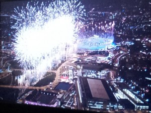 London 2012 - Olympic Stadium Fireworks