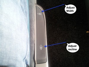 IDBUS Adjust seat width and recline button