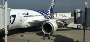 ANA's Boeing 787 Dreamliner in Haneda at the Gate