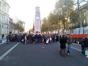 People at the Cenotaph on Remembrance Day