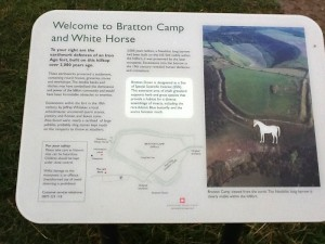 Westbury White Horse Welcome Sign