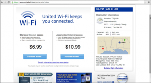 Logged in Screenshot of United WiFi