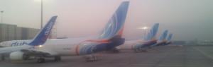 flydubai B738s in DXB